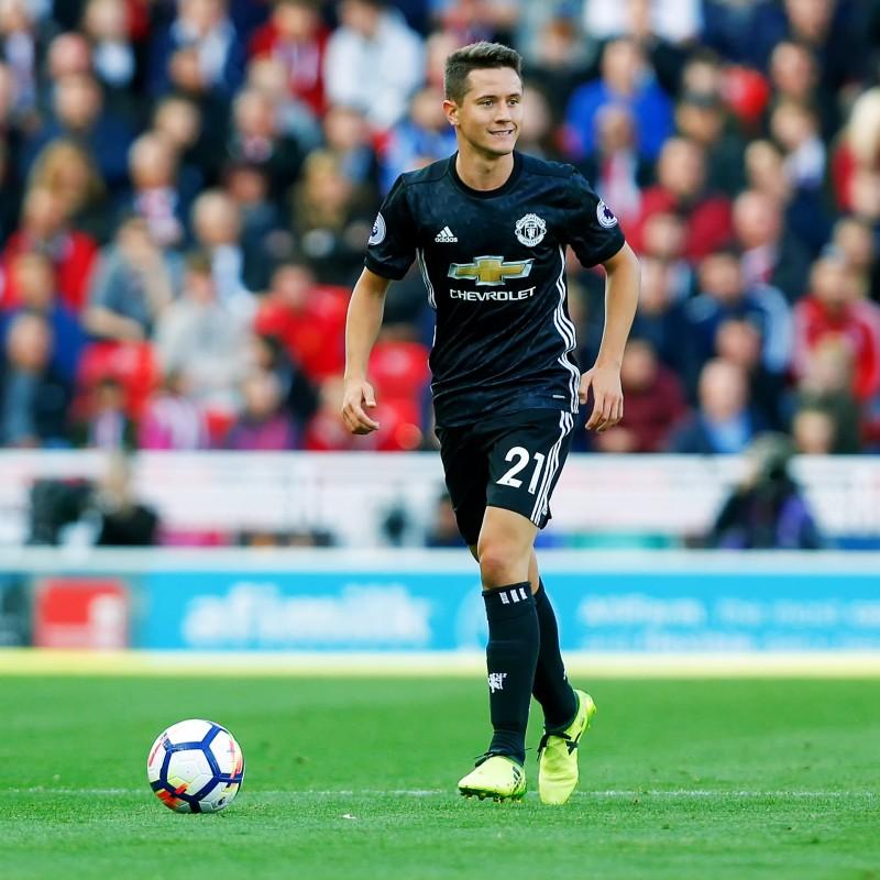 Herrera's Manchester United Match-Issued Shirt, EPL 2017/18