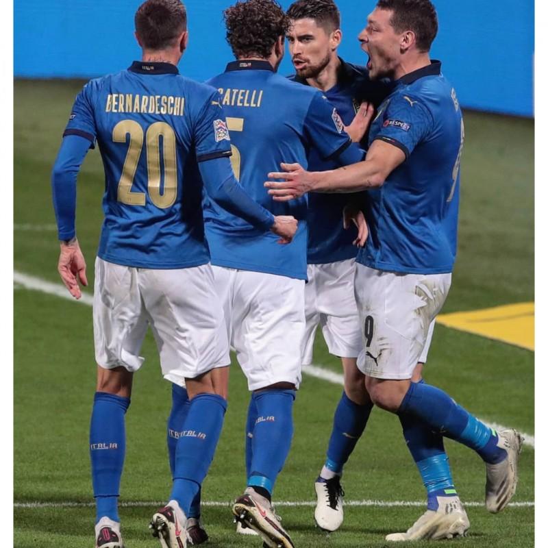 Bernardeschi's Authentic Italy Signed Shirt, 2020