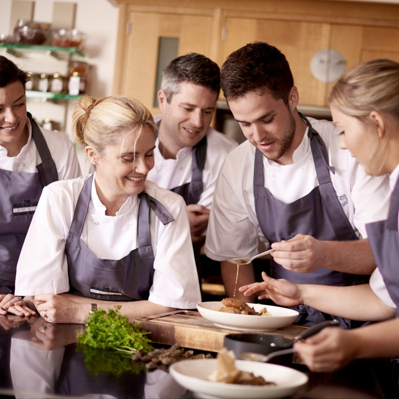 A Full-day Cookery Class at The Raymond Blanc Cookery School for 2 People