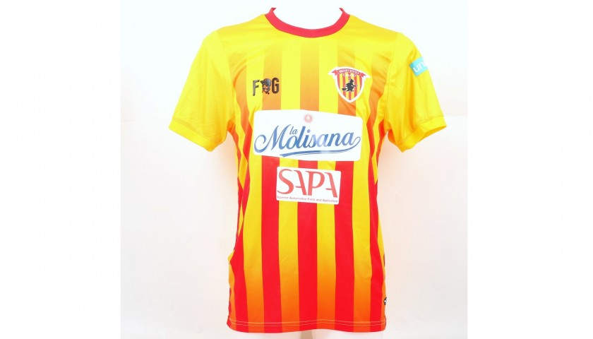 Ciciretti's Match-Worn and Signed Shirt with UNICEF Patch, Benevento-Sassuolo