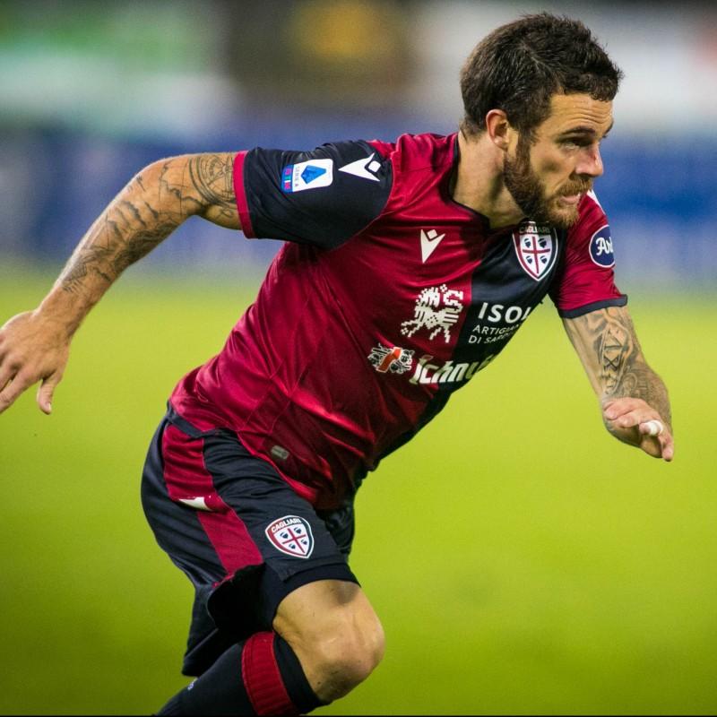 Nandez's Match-Issued Signed Shirt, Cagliari-Fiorentina