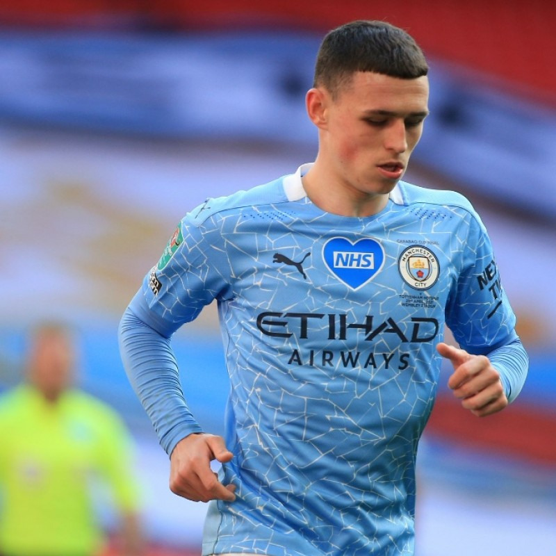 Foden's Stadium-Issued Signed Shirt, Carabao Cup Final