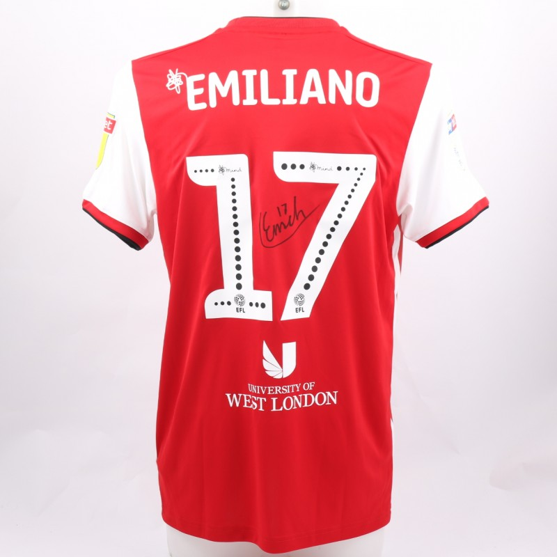 6eae48e96a5f Emiliano s Brentford Match-Issue and Signed Poppy Shirt