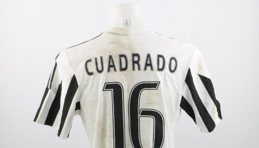 low priced 8ce99 f884a Matchworn Juventus Cuadrado shirt, worn Serie A 2015/2016 - unwashed -  CharityStars