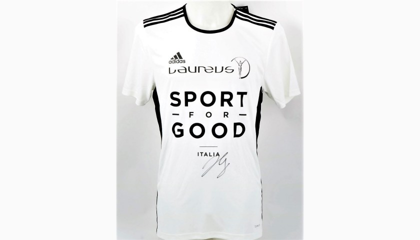 Laureus Official Shirt - Signed by Basketball Star Gallinari