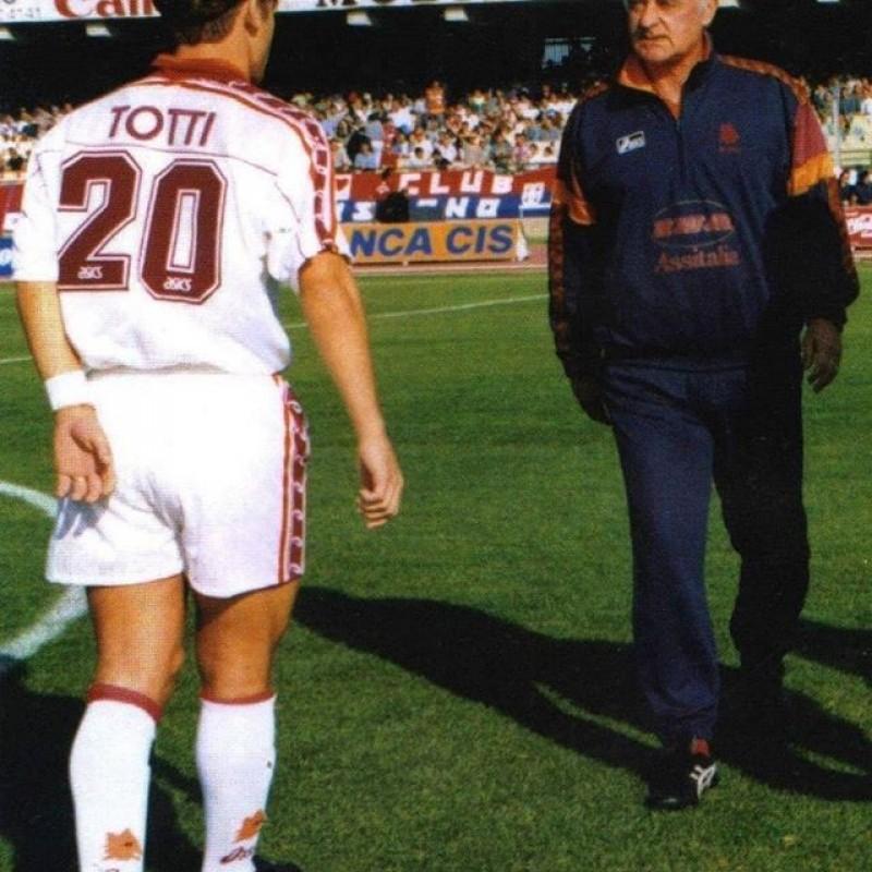 Totti's Roma Match Signed Shirt, 1995/96 Season