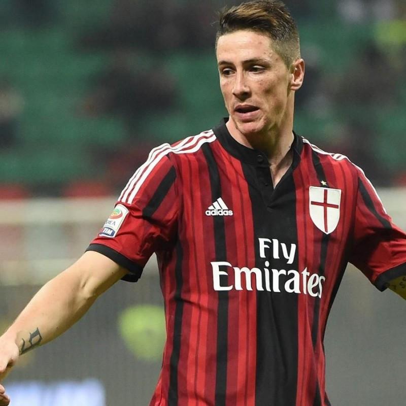 Torres' Milan Signed Kid's Shirt, 2014/15