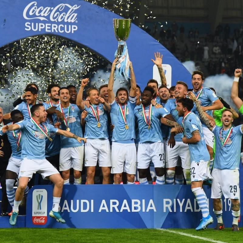 Lulic's Lazio Match Shirt, Italian Super Cup 2019