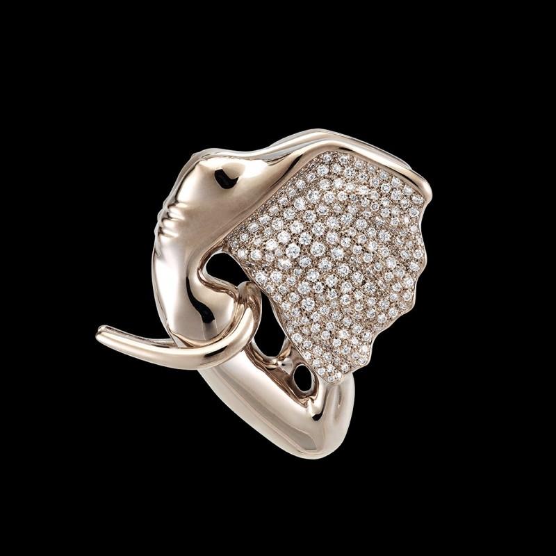 "Gold and Diamond ""Eléphantasme"" Pendant by Anis Dargaa and Allan Schmidt"