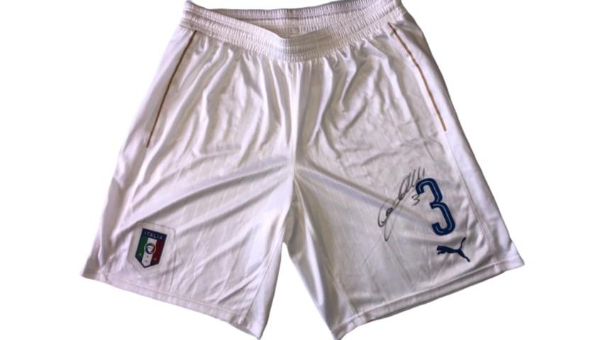Chiellini's Italy Match Signed Shorts, 2016 Season