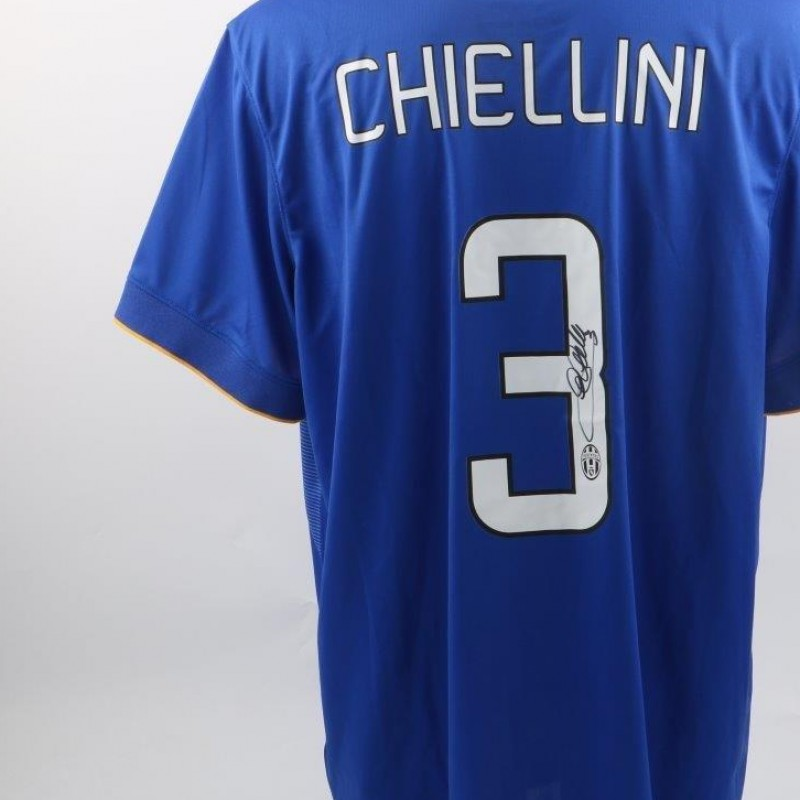 Official replica Chiellini Juventus shirt, Serie A 2014/2015 - signed