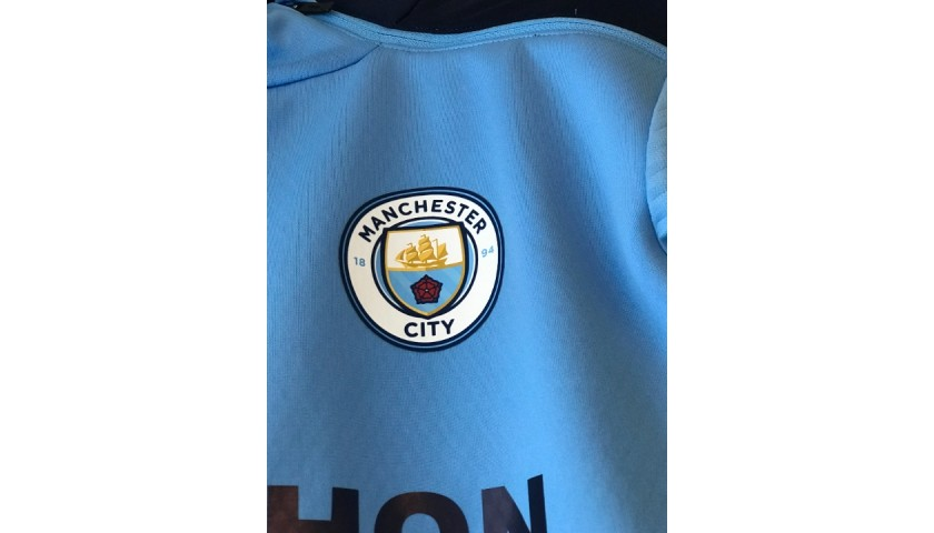 Foden's Worn Manchester City Signed Thermal Training Top