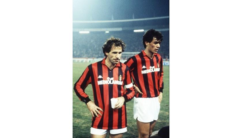 Baresi's AC Milan Match Signed Shirt, 1988/89