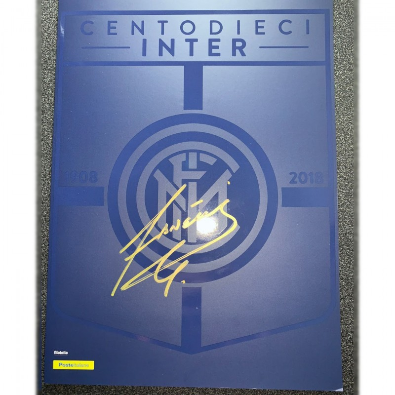 Inter 110th Anniversary Folder - Signed by Javier Zanetti