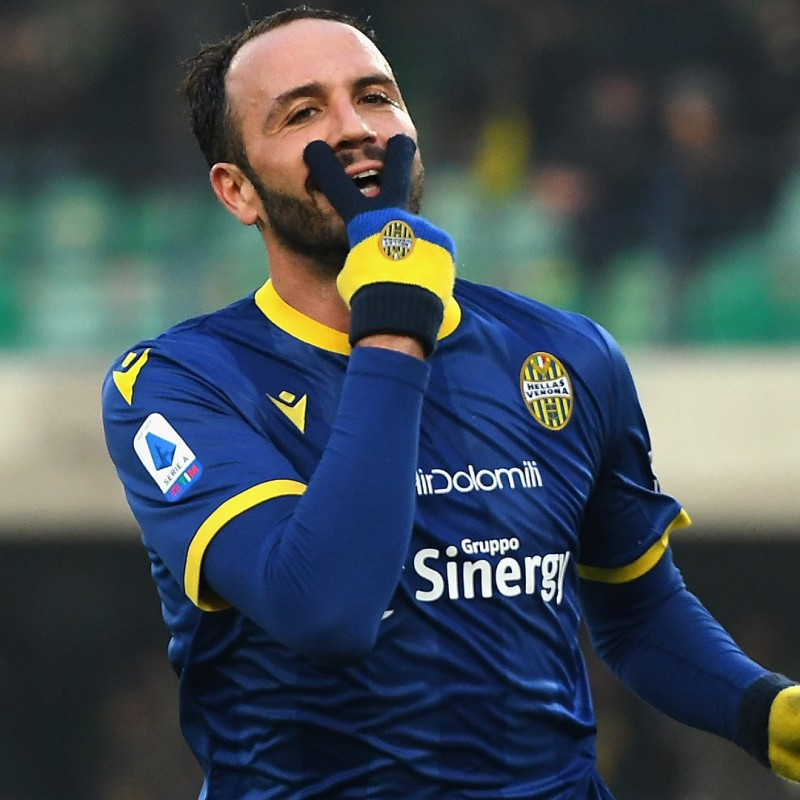 Pazzini's Official Hellas Verona Signed Shirt, 2019/20