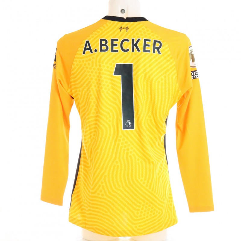 Becker's Liverpool FC Match-Issued and Signed Shirt, Limited Edition 20/21