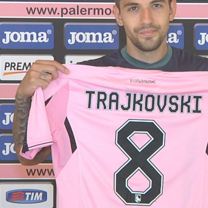 Palermo shirt celebrating new player Trajkovski - signed