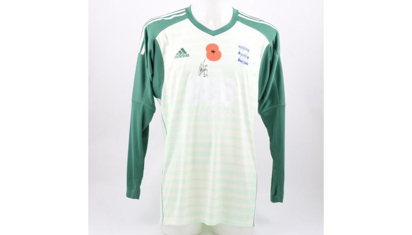 Trueman's Birmingham City FC Worn and Signed Poppy Shirt