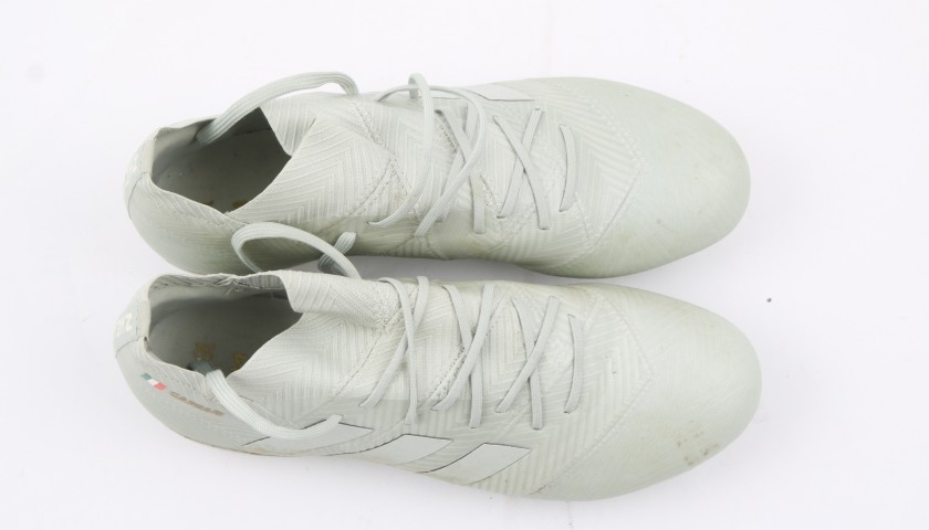 Caprari's Adidas Nemeziz Worn and Signed Boots