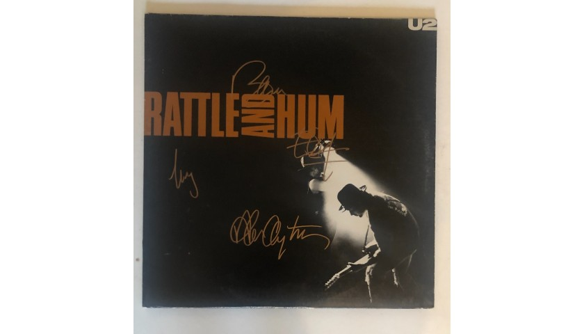 U2 Fully Signed Rattle and Hum Vinyl LP