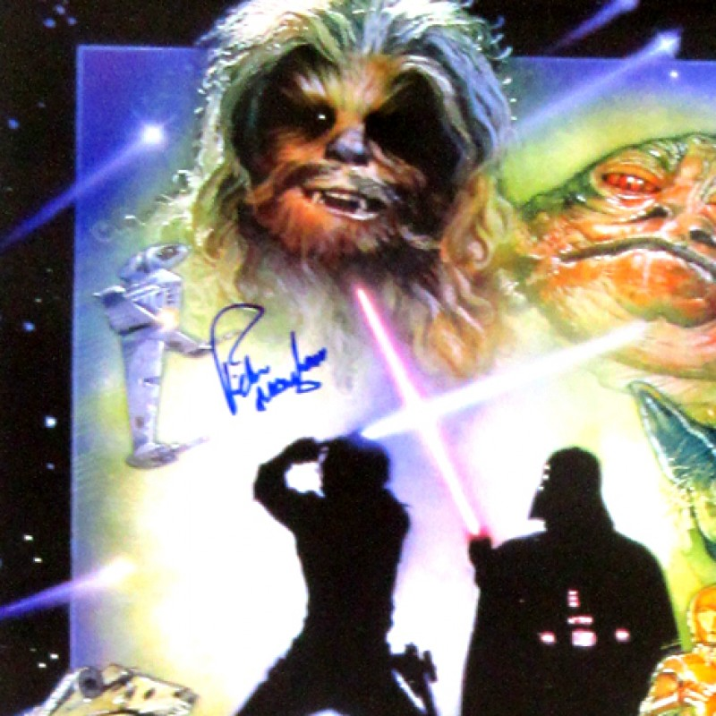 Star Wars: Episode VI - Return of the Jedi Poster Signed by Peter Mayhew, the Chewbacca Actor in Star Wars