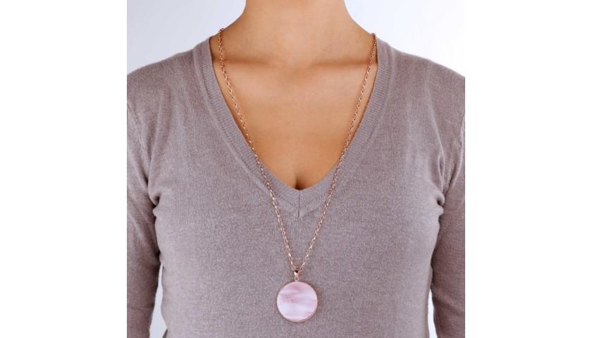 Bronzallure Pink Mother-of-Pearl Jewelry Set