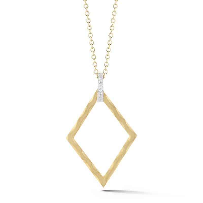 14 Karat Open Diamond - Shaped Pendant