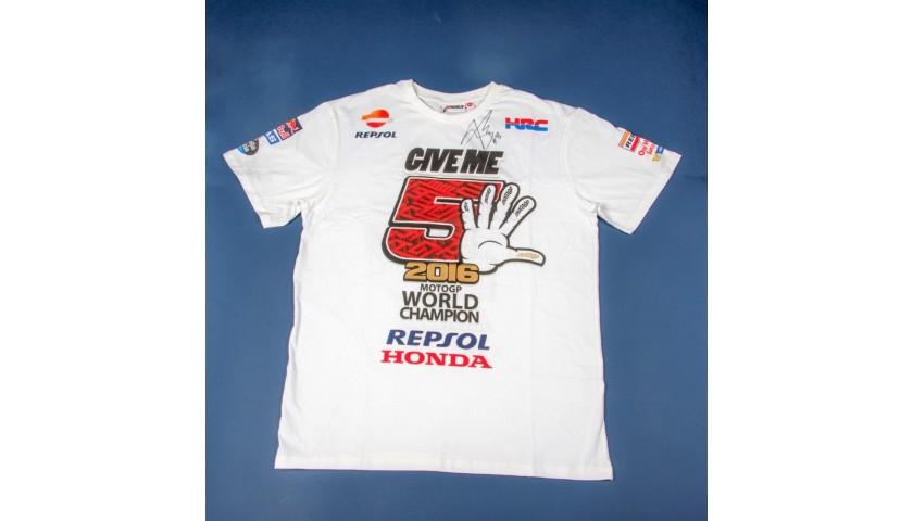 gorące produkty dostępny lepszy Men's T-Shirt Signed by Marc Márquez - CharityStars