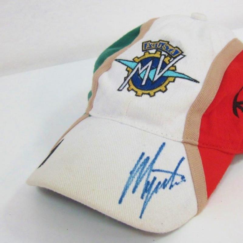 Agostini MV Agusta worn and signed cap