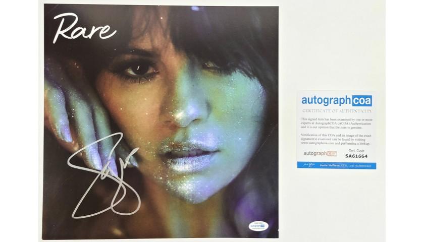 Selena Gomez Autographed LP Flat