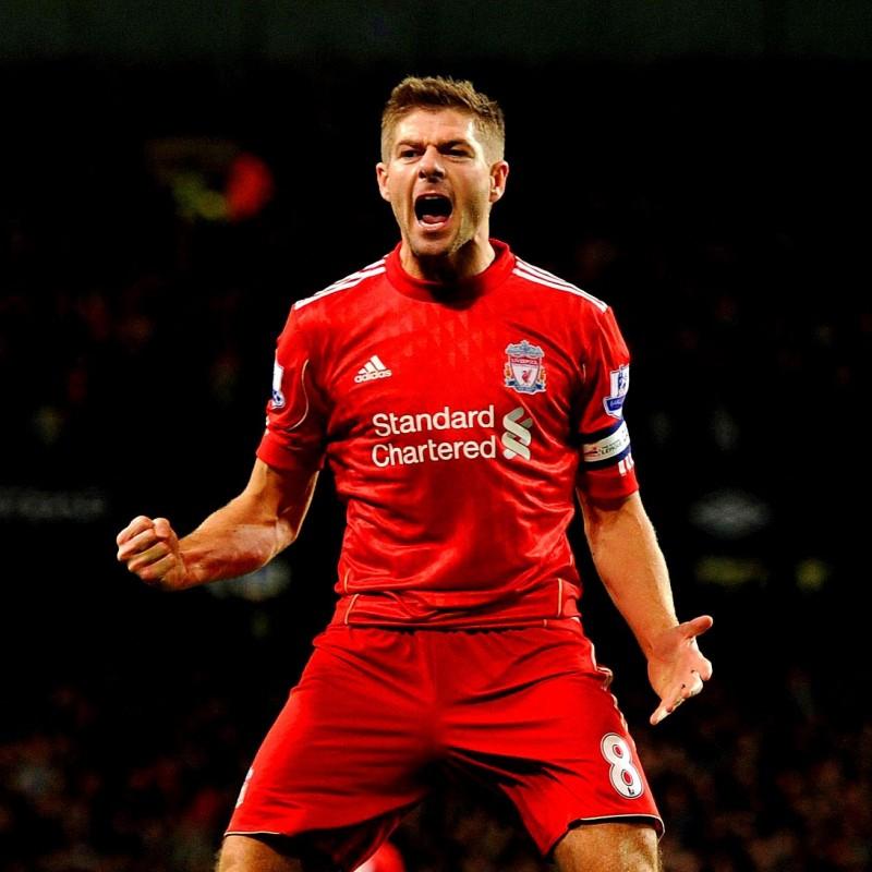 Signed Official Gerrard 2011/12 Liverpool Shirt