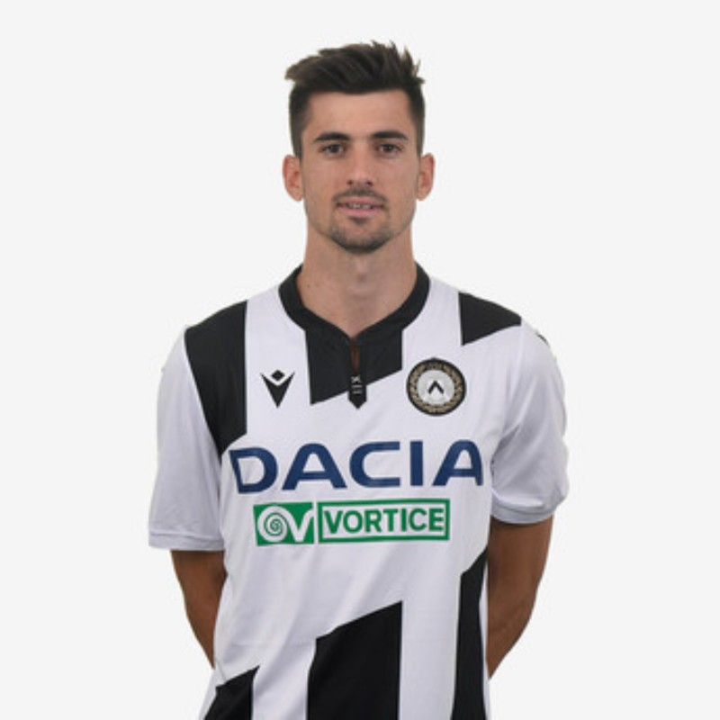 Pussetto's Special Worn Shirt, Udinese Calcio -SPAL