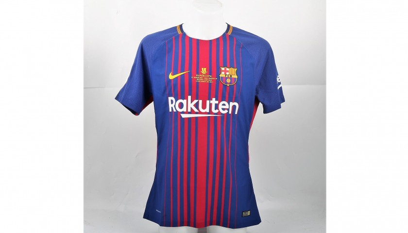 Messi's Match-Issued/Worn 2017 Spanish Super Cup Shirt