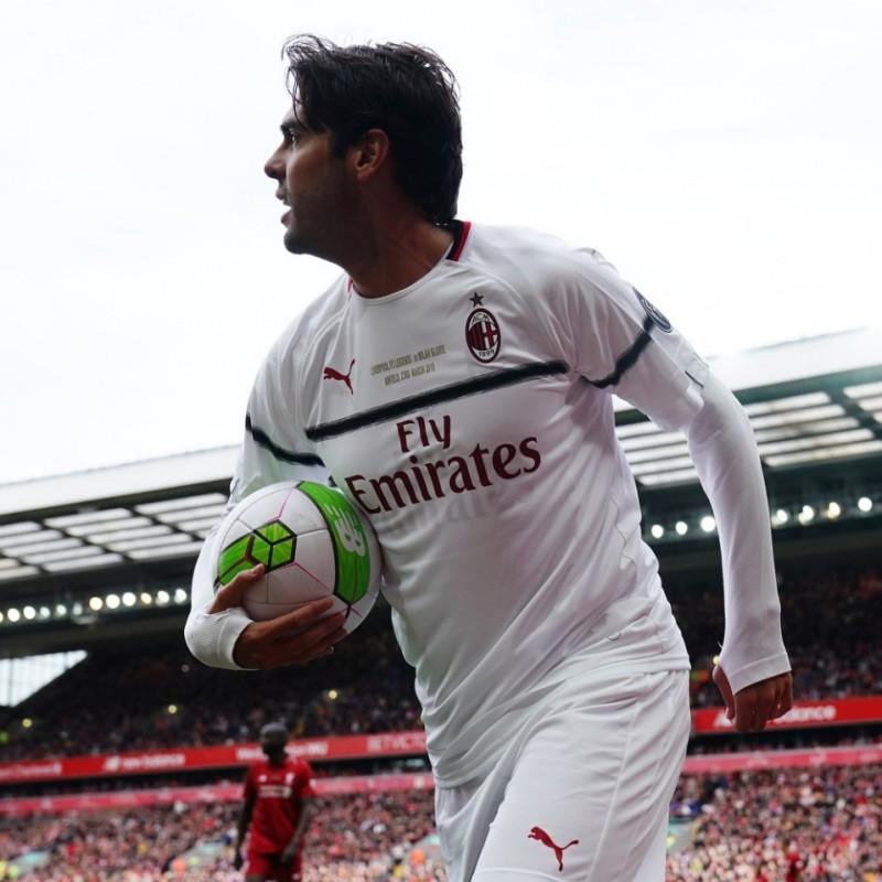 Kakà's Worn and Signed Shirt, Liverpool-AC Milan 2019