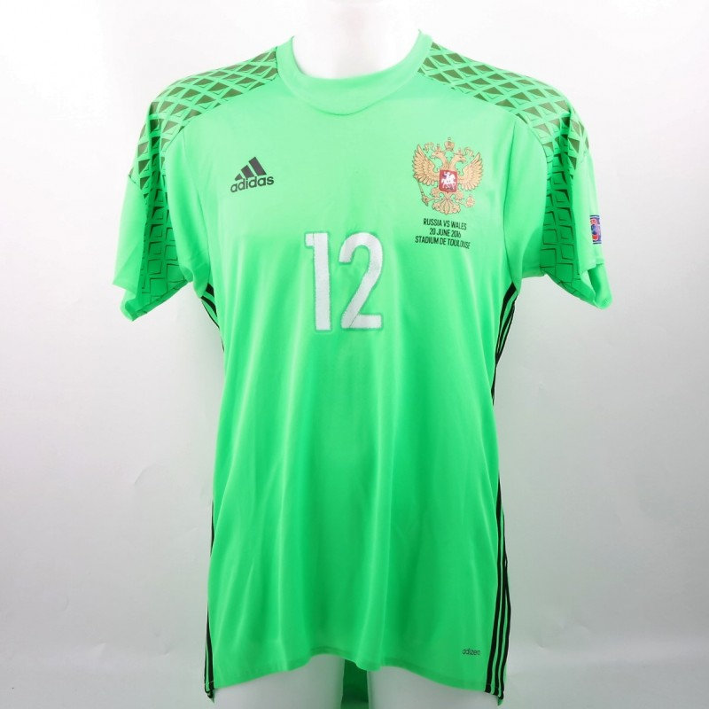 Lodygin Match issued / worn Shirt VS Wales EURO 2016