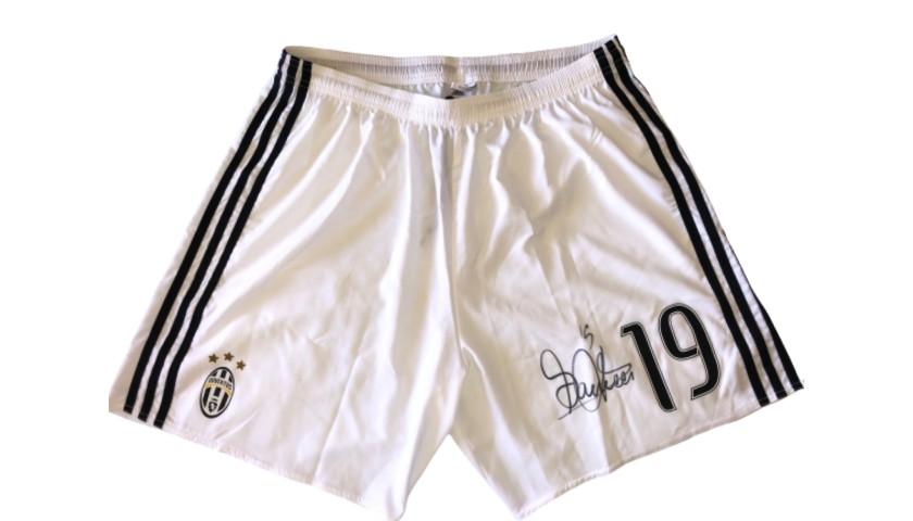 Bonucci's Juventus Signed Match Shorts, 2016/17