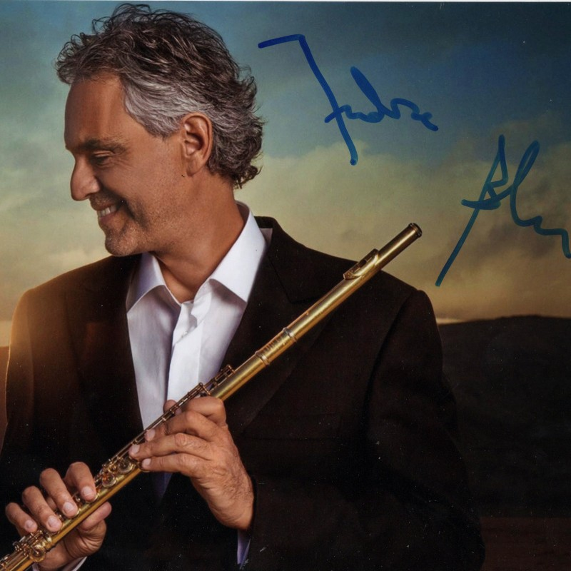Signed Photograph of Andrea Bocelli