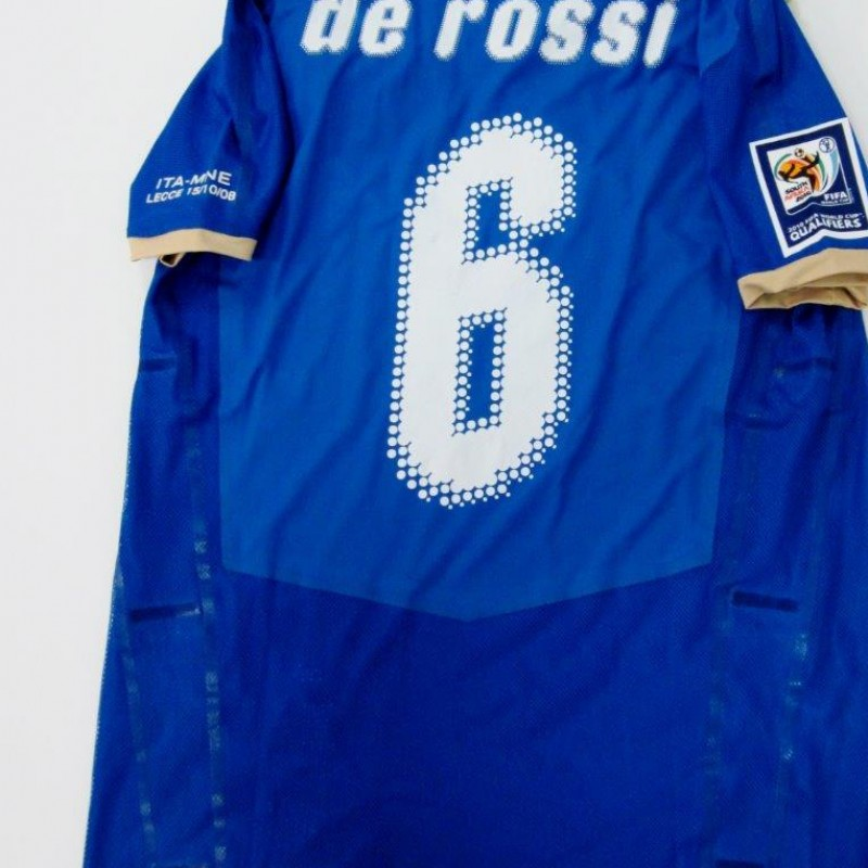 De Rossi match issued/worn shirt, Italy-Montenegro, World Cup Qualifications 2010