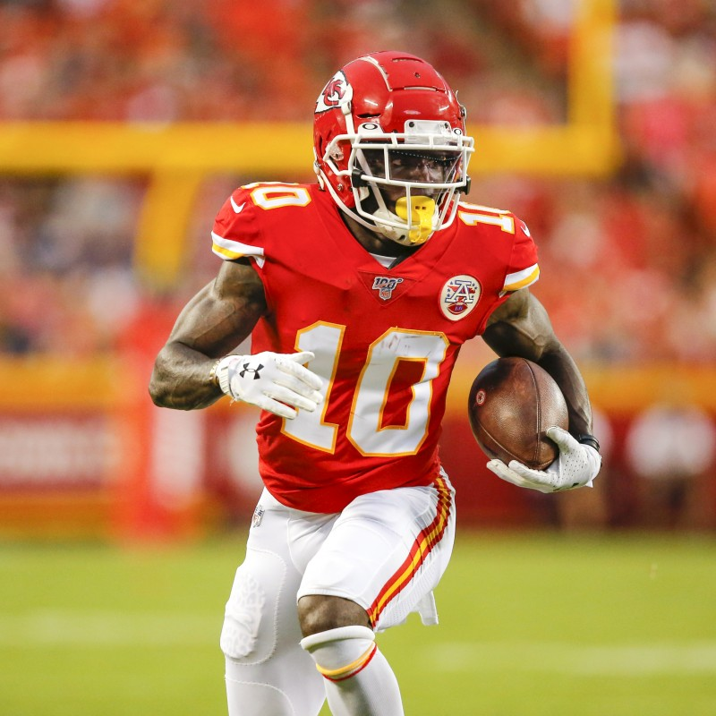Tyreek Hill Signed Stats Chiefs Jersey