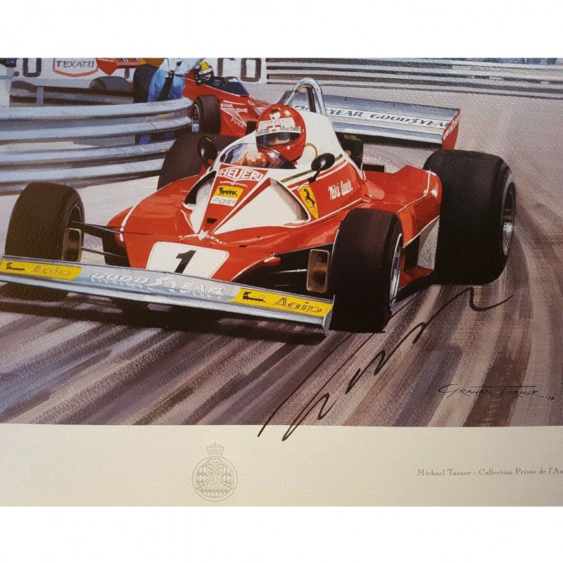 Lithograph Signed by Niki Lauda