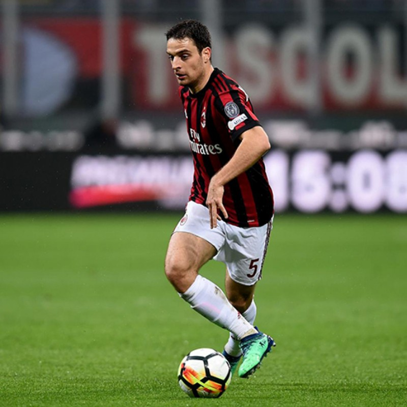 Bonaventura's Unwashed Match-Worn Milan-Inter Shirt with Special Patch