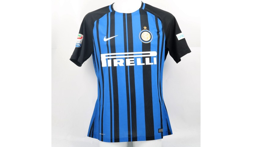 Icardi's Signed Match-Worn Shirt with UNICEF Patch, Inter-Atalanta