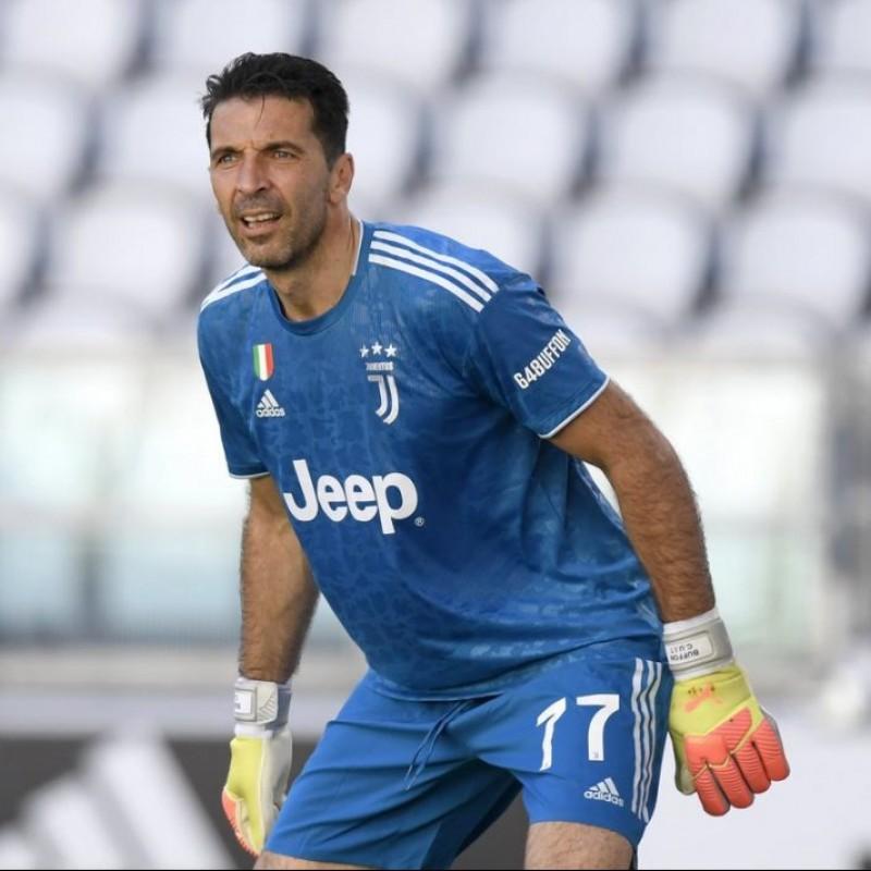 Buffon's Signed Match Shirt, Juventus-Torino 2020