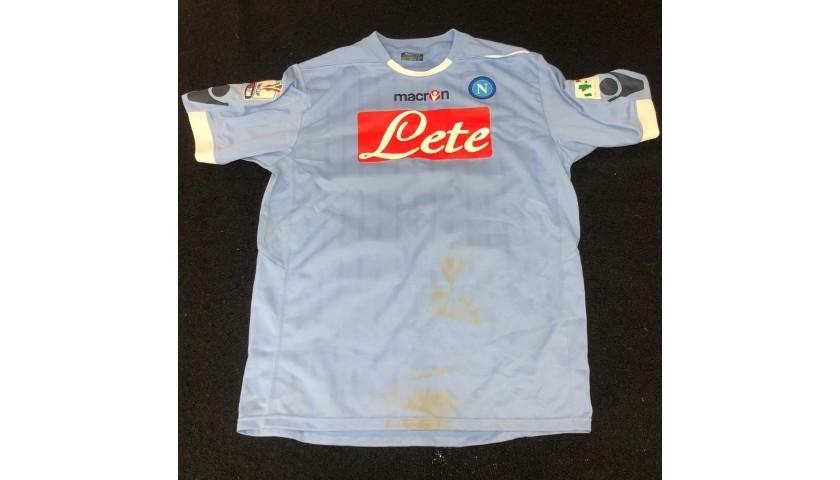 Lavezzi's Worn and Unwashed Shirt, Napoli-Inter 2011