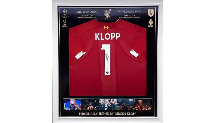 Framed Liverpool Champions Home Shirt 2018/19 Signed by Jürgen Klopp