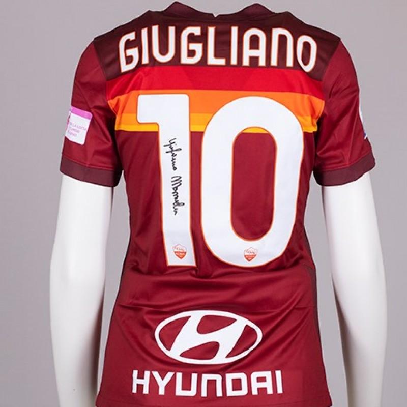 Giugliano's AS Roma Signed Shirt - Special Komen Italia