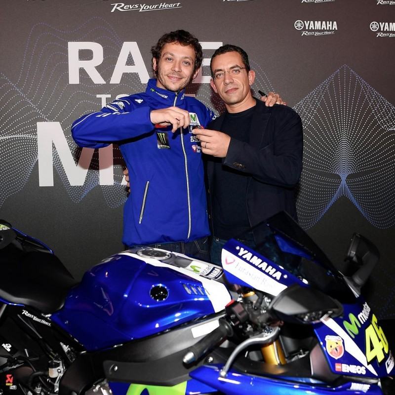 Taking home Valentino Rossi's Yamaha