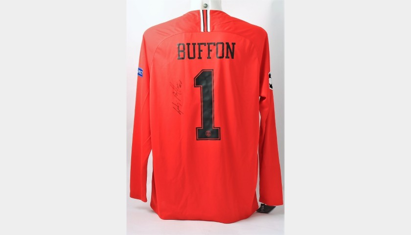 Buffon's Official PSG Signed Shirt, UCL 2018/19