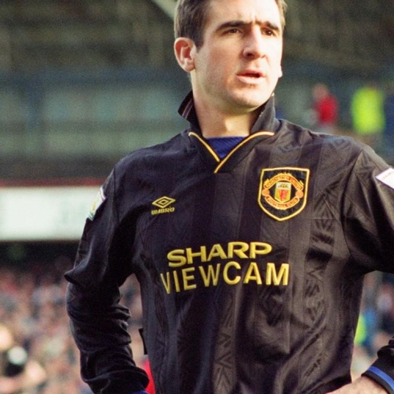 Maillot de Manchester United 1994 signé par Eric Cantona