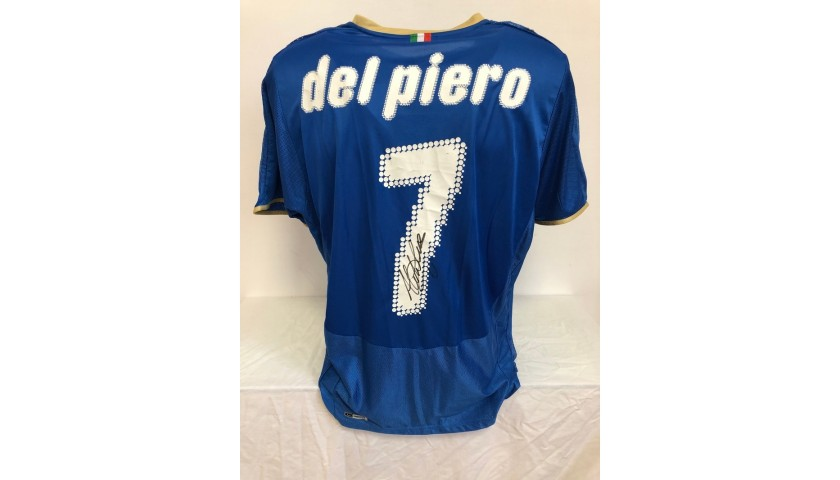 Del Piero's Official Italy Signed Shirt, 2008